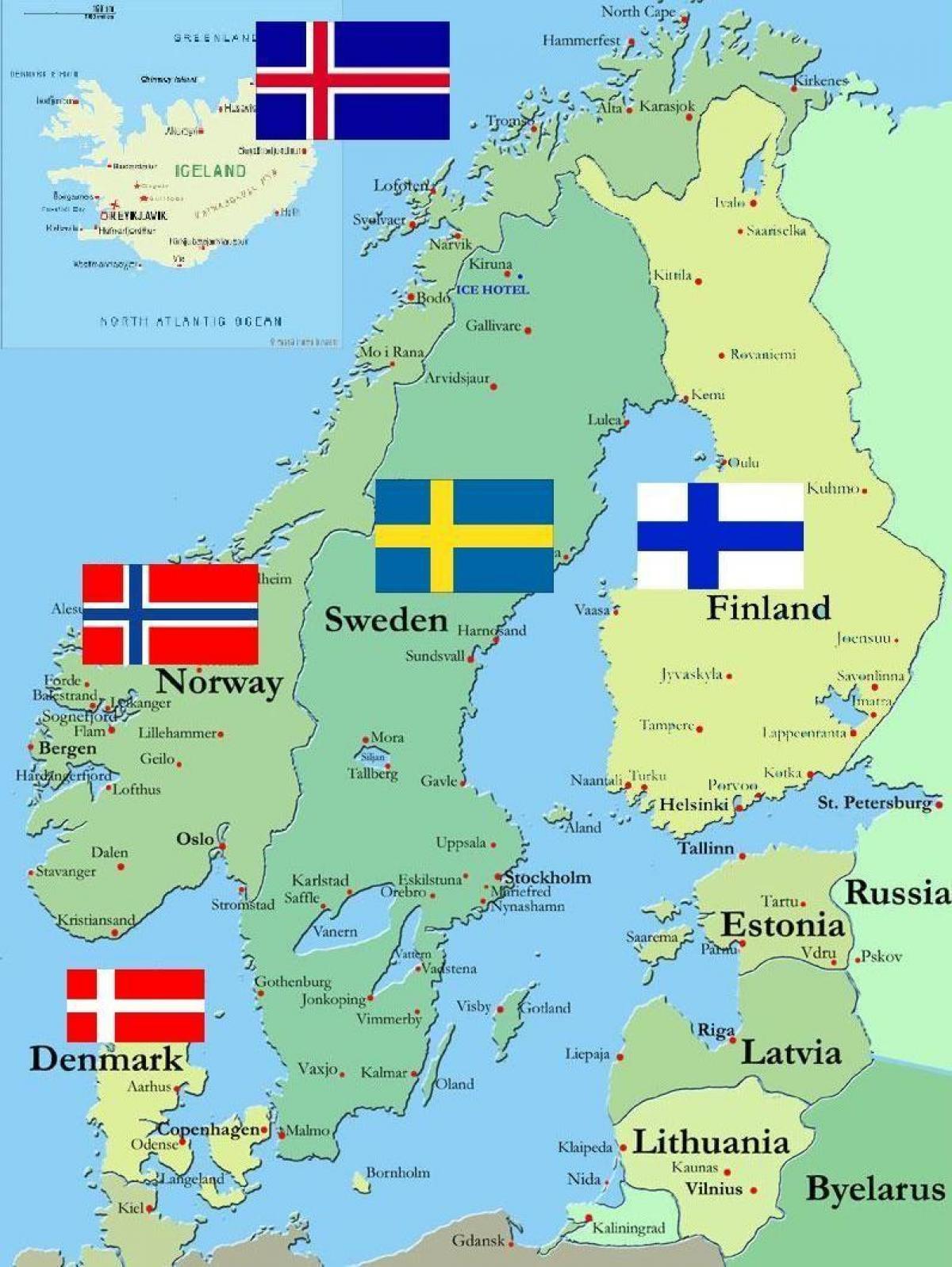 Finnland Karte Regionen.Karte Von Finnland Finnland In Der Karte Der Welt